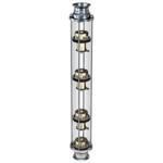 """Моно-колпачковая колонна стеклянная медь 1.5"""" (38mm)"""