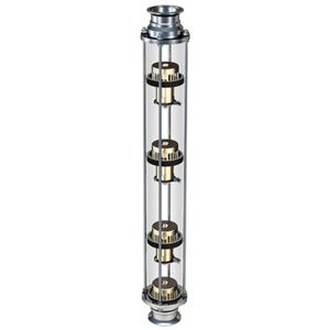 Моно-колпачковая колонна стеклянная медь 38 мм