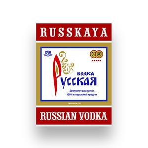 Этикетка «Русская водка»