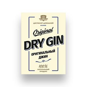 Этикетка «Драй джин»